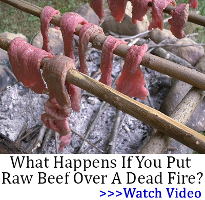 What Happens If You Put Raw Beef Over A Dead Fire?